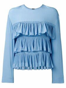 Marni ruffle blouse - Blue