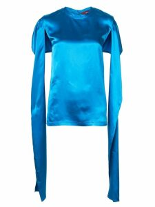 Sies Marjan oversized open sleeve top - Blue
