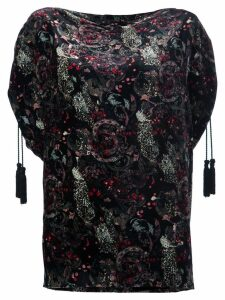Roberto Cavalli paisley print blouse - Black