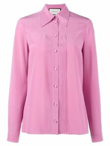 Gucci pleated silk blouse - PINK