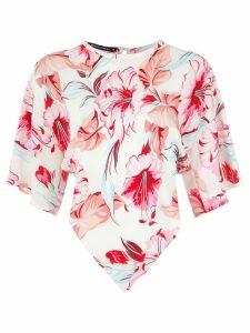 Reinaldo Lourenço printed silk blouse - White