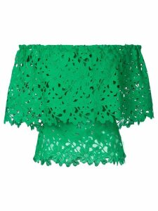 Bambah lace off shoulder top - Green