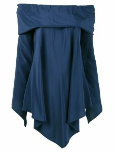 Sies Marjan asymmetric off-shoulder blouse - Blue
