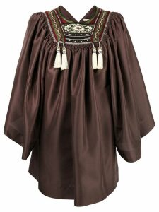 Etro embroidered blouse - Brown