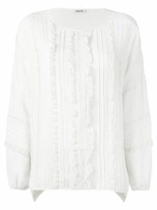 P.A.R.O.S.H. lace placket blouse - White