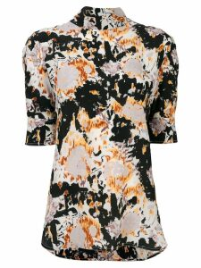 Marni 'Magma' print mock neck blouse - Multicolour