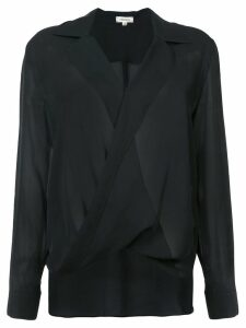 L'Agence draped blouse - Black