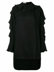 Valentino Ruffle neck cascade sleeve blouse - Black