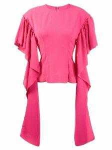 Rejina Pyo Kara Blouse With Long Drape Sleeves - Pink