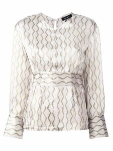 Isabel Marant patterned blouse - Neutrals