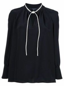 Derek Lam Sonia long-sleeve silk blouse - Black