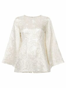 Bambah gold lamé tunic - White