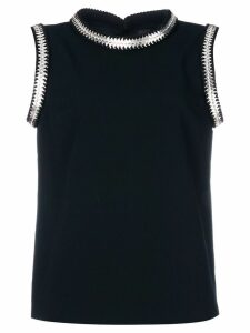 Dsquared2 metallic coin-embroidered blouse - Black