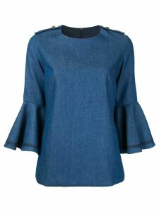 Macgraw Moon Penny trumpet sleeve top - Blue