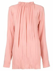 Marni ruffled high neck blouse - 00C99