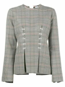 Rosie Assoulin Double Check Top With Flared Sleeves - Grey