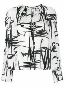 Balenciaga graphic print blouse - White