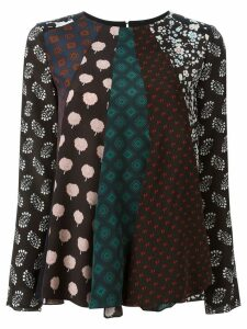 LANVIN patchwork pattern blouse - Green