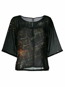 Minimarket Suffix city print blouse - Black
