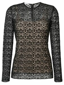 Stella McCartney lace overlay blouse - Black