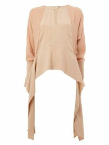 LANVIN draped side panel blouse - Pink