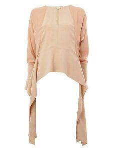 LANVIN draped side panel blouse - PINK