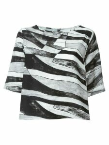 Minimarket Suffix abstract-print blouse - Black