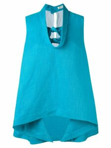 Delpozo knot detail top - Blue