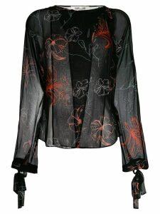 Diane von Furstenberg floral printed blouse - Black