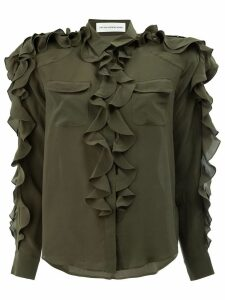 Faith Connexion frilled blouse - Green