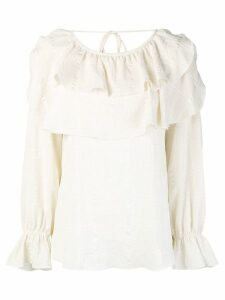 See By Chloé ruffle trim blouse - Neutrals