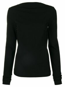 Rick Owens zip back blouse - Black
