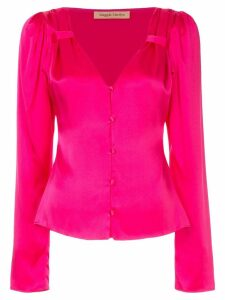 Maggie Marilyn V-neck button blouse - Pink