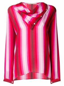 Marco De Vincenzo draped striped blouse - Multicolour