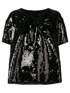 Marc Jacobs sequined v-neck T-shirt - Black