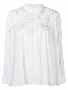 Nº21 pleat detail blouse - White