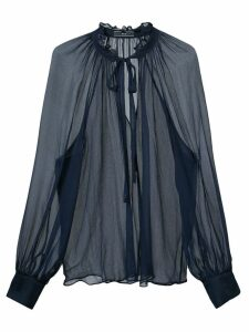 Voz sheer blouse - Blue