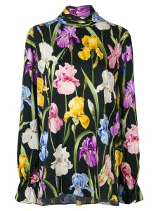 Dolce & Gabbana floral-print blouse - Black
