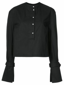 Proenza Schouler Cotton Poplin Buckled Top - Black