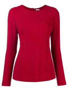 P.A.R.O.S.H. fitted long sleeve blouse - Red