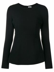 P.A.R.O.S.H. fitted long sleeve blouse - Black