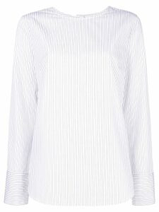 Odeeh striped round neck blouse - White