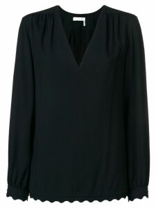 Chloé scallop trim blouse - Black