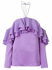 Emilio Pucci ruffle detail blouse - Purple