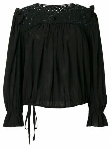 Isabel Marant Étoile Rock embroidered blouse - Black