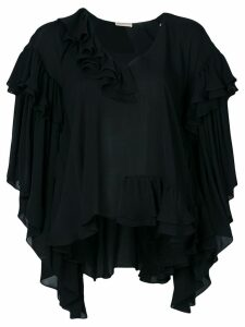 Emilio Pucci frilled shift blouse - Black