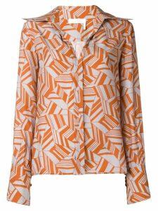 Chloé geometric print shirt - Grey