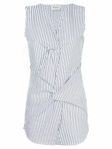 Monographie twisted sleeveless top - White