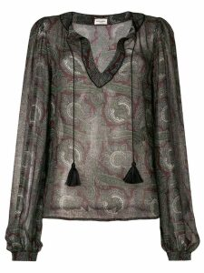 Saint Laurent paisley print blouse - Green