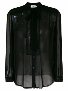 Coach tie neck blouse - Black
